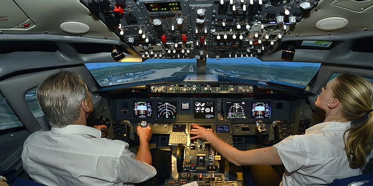 Cockpit Bild Flight Deck B737